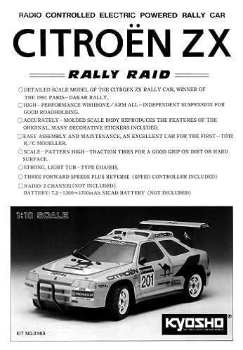 kyosho rally raid citroen zx 1 10 electric car instruction manual rh amazon com manuel citroen zx 1.9 diesel manual citroen zx