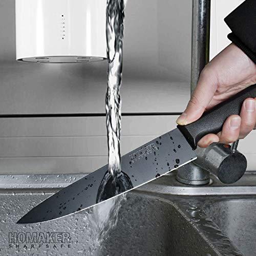 Homaker Knife Set, Black Kitchen Knife Set with High Carbon Stainless Steel Ultra Sharp Chef Knives Set, Bread Knife, Boning Knife, Paring Knife by HOMAKER (Image #6)