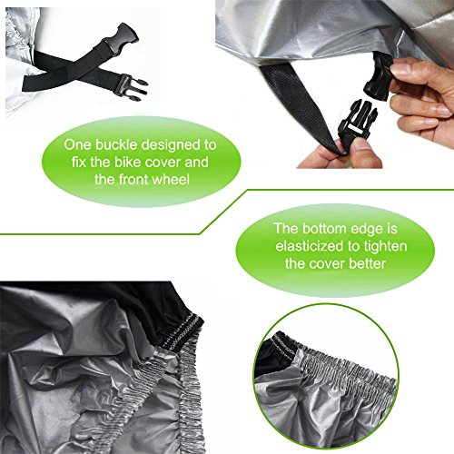 Yougai Bike Cover Outdoor Bicycle Cover Waterproof Dust Wind Proof with Lock Hole, Road Bike, Mountain Bike by Yougai (Image #4)