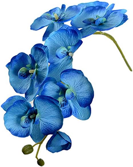 3, Light Purple GOOTRADES Artificial Butterfly Orchid Silk Flower Home Garden Phalaenopsis Bouquet Decor