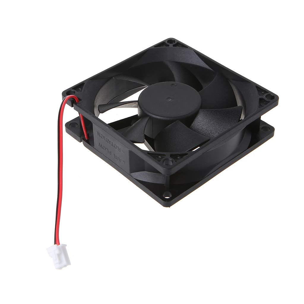 KOFUN Ventilateur Remplacement sans Brosse /À 2 Fils du Roulement De Manchon du Ventilateur De Refroidissement Hydraulique 12V 0.25A