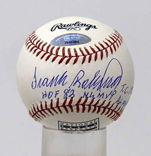 Frank Robinson Signed Baseball Hall Of Fame Logo Ball Stat Ball #7543369 - Tristar Productions Certified