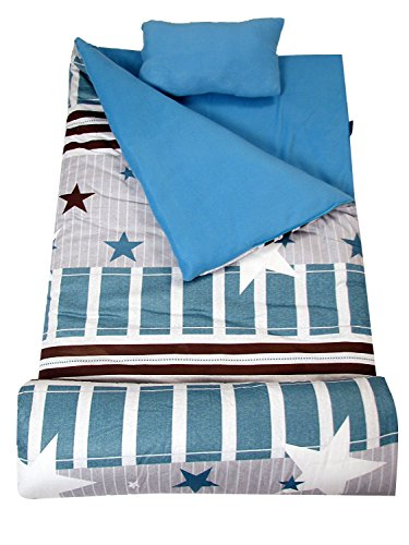 SoHo Kids Classic Children Sleeping Slumber Bag with Pillow and Carrying case Lightweight Foldable for Sleep Over (Super -
