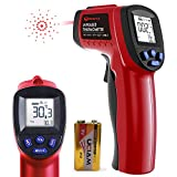 Infrared Thermometer, Digital Temperature Gun Infrared Non-Contact Thermometer -58°F to 1022°F (-50°C to 550°C) with Adjustable Emissivity for Cooking/Air/Auto Repair (with Battery)