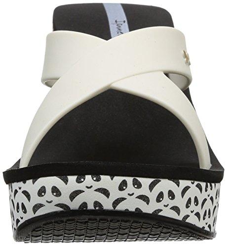 Ipanema Lipstick Straps - Sandalias de material sintético mujer negro - Noir (90015 Black/White)
