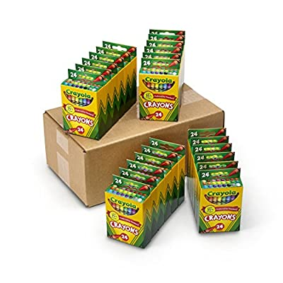 Crayola Crayons Bulk, Back to School Supplies, 24 Box Classpack, 24 Assorted Colors: Toys & Games