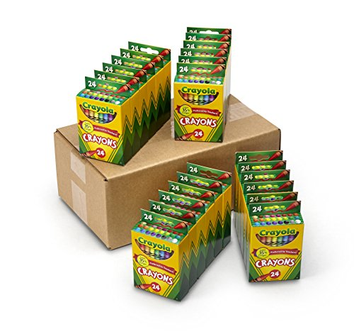Crayola Crayons Bulk, Back to School Supplies, 24 Box Classpack, 24 Assorted Colors