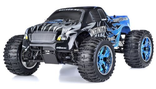 1/10 2.4Ghz Exceed RC Infinitve Nitro Gas Powered RTR Off Road Monster 4WD Truck (Sava Blue)STARTER KIT REQUIRED AND SOLD SEPARATELY