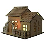 Xerhnan Creative wooden house, villa, small courtyard, band lamp, money box, piggy bank, boy friend, girlfriend, children, birthday present