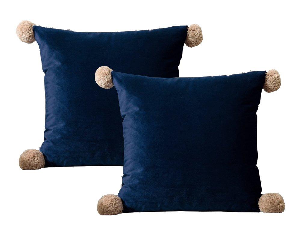 Lutanky - Funda de cojín de terciopelo para sofá, dormitorio, coche, 45 x 45 cm, 2 unidades youtan