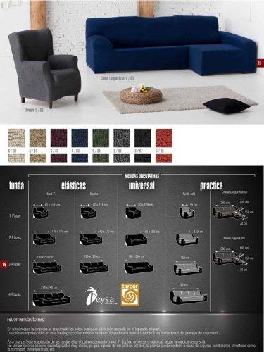 Colorintex - Eysa - Fundas de Sillas y Sofas - Teide Elastica - Medidas: chaise longue normal (240 cm) derecho - Color: 00 beig - Disponible en varios ...