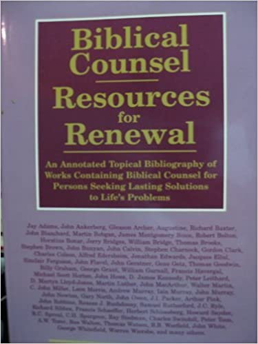 DOCX Biblical Counsel : Resources For Renewal : An Annotated Topical Bibliography Of Works Containing Biblical Counsel For Persons Seeking Lasting Solutions To Life's Problems. Banda broad defined Puede email legales career