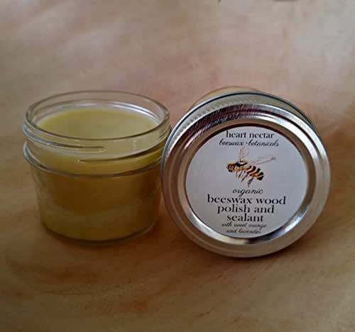 Organic Beeswax Wood Polish and Sealant ~ Sweet Orange and Lavender ~ 4oz
