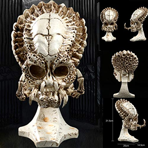 (DAJIADS Figurine Figurines Statue Statues Statuette Statues Africa Home Decor Skull for Decoration Resin Alien Skull Predator Skeleton Abstract Sculptures Art Carving Statue)