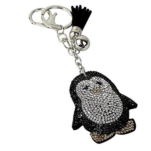 Penguin Rhinestone Keychain with Soft Padded (Penguin Key)