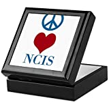 CafePress - Peace Love Ncistv - Keepsake Box, Finished Hardwood Jewelry Box, Velvet Lined Memento Box