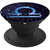 Libra Zodiac Galaxy Universe Astrology Horoscope Gift - PopSockets Grip and Stand for Phones and Tablets
