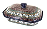 Polish Pottery Golden Pastures Large Covered Baking Dish
