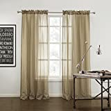Best IYUEGO Eclipse Curtains Eclipse Curtains Blinds - IYUEGO Modern Stripe Cozy Sheer Curtains Rod Pocket Review