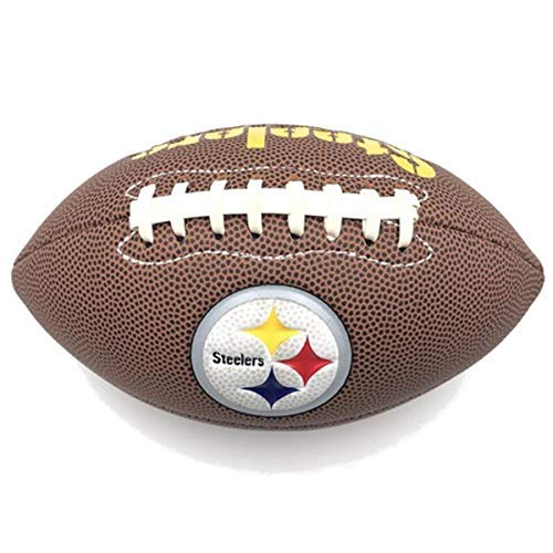 Jarden Sports Licensing Official National Football League Fan Shop Authentic NFL AIR IT Out Youth Football. Great for Pick up Game with The Kids. (Pittsburgh Steelers)