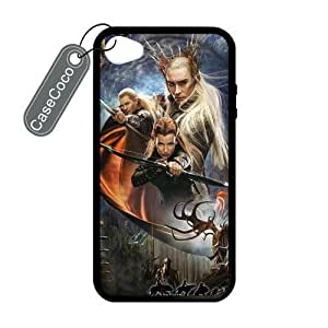 CASECOCO(TM) The Hobbit iPhone 4/4s Case- Protective Hard Back / Black Rubber Sides Case for iPhone 4/4s