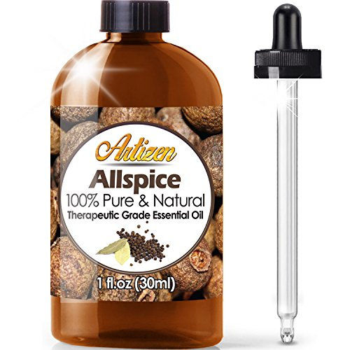 Artizen Allspice Essential Oil (100% Pure & Natural – Undiluted) Therapeutic Grade – Huge 1oz Bottle – Perfect for…