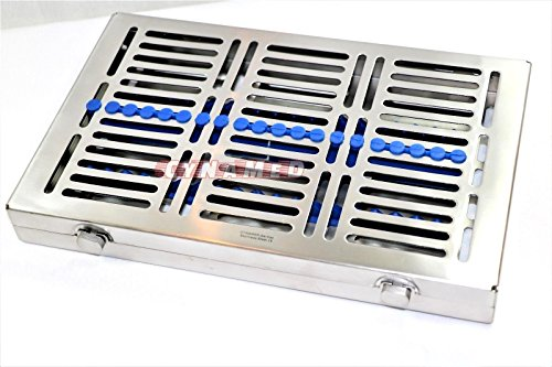 3 GERMAN DENTAL SURGICAL AUTOCLAVE STERILIZATION CASSETTES FOR 20 INSTRUMENTS BLUE ( CYNAMED ) by CYNAMED (Image #3)
