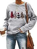 Jiuhexuj Women Long Sleeve This is My Christmas Movie Watching Sweater Hallmark Shirt