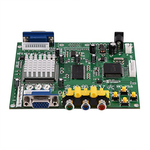 Zerone CGA/EGA/YUV/RGB to VGA Arcade Game HD Video Converter Adapter Board for CRT LCD PDP Monitor, with True Digital 24-Bit A/D Converter