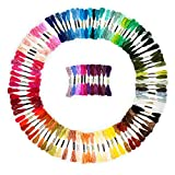 Arts & Crafts : Premium Embroidery Floss, 100 Skeins Rainbow Color Embroidery Threads, Cross Stitch Threads, Friendship Bracelet String, Handmade Craft Floss with 6 Strands 8.75 Yard