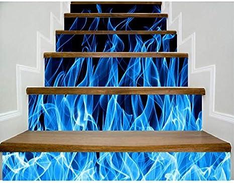 Fandhyy Pegatinas para Escaleras 3D Azulejos Patrón DIY Escaleras De Moda Decoración Escalera Grande Etiqueta De La Pared 6 Unids/Set: Amazon.es: Hogar