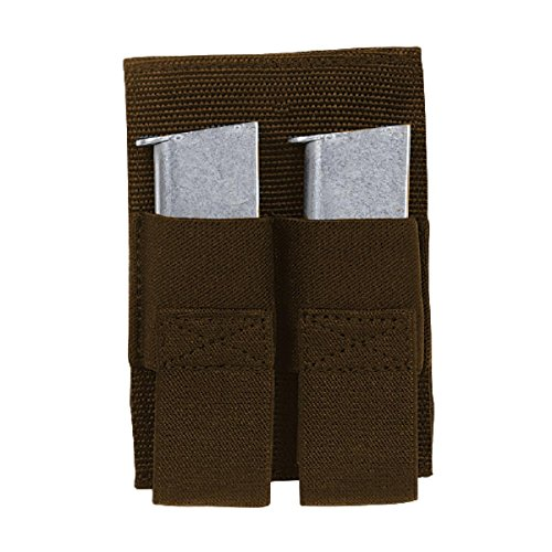 VooDoo Tactical 20-0119007000 Removable Double Pistol Mag Pouch, Coyote - Coyote Double Hook