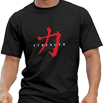 Quality Men's Asian Symbol 'Strength' T-shirts. Weightlifting Bodybuilding Gym Workout. 5 size Options.
