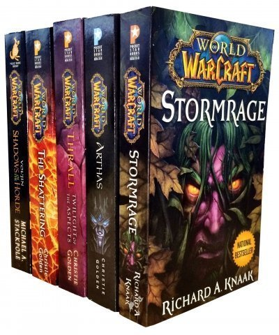 Warcraft-World-Of-Warcraft-5-Book-Collection-Set-The-Shattering-Thrall-Twilight-of-the-Aspects-Arthas-Rise-of-the-Lich-King-Stormrage-Voljin-by-Christie-Golden-2016-05-03
