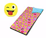 Emoji Pals Sleeping Bag Set, Pink, 54''X30''