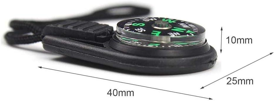 5 Pcs Mini Boussole Clip Mousqueton Outil De Guidage Porte-cl/és Porte-cl/és pour Activit/é en Plein Air Randonn/ée Camping Chasse Voyager