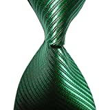 Tinksky Paisley Jacquard Woven Mens Tie Necktie Scarf Wedding Party Dress 13 Colors Striped Green