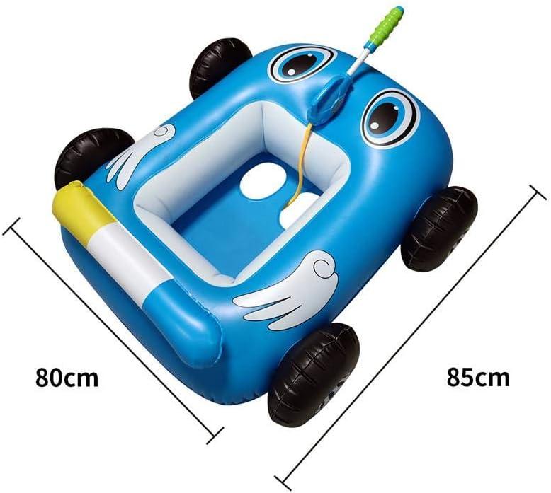 barco con pistola de agua integrada juguete de verano para ni/ños y ni/ñas de 3 a 7 a/ños juguete de agua para el coche piscina inflable 85 x 80 x 35 cm shenruifa Flotador de piscina para ni/ños