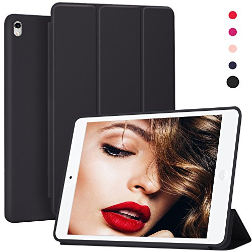 iPad Pro 12.9 inch Case,Jasbon Tablet Cover Ultra Slim Lightweight Smart Shell Magnetic Auto Wake/Sleep Leather Back Shock Absorption Protector Stand Skin iPad Pro 12.9 2017 Release(Black) by JASBON