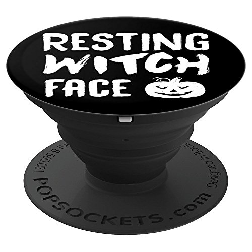 Resting Witch Face Halloween - PopSockets Grip and