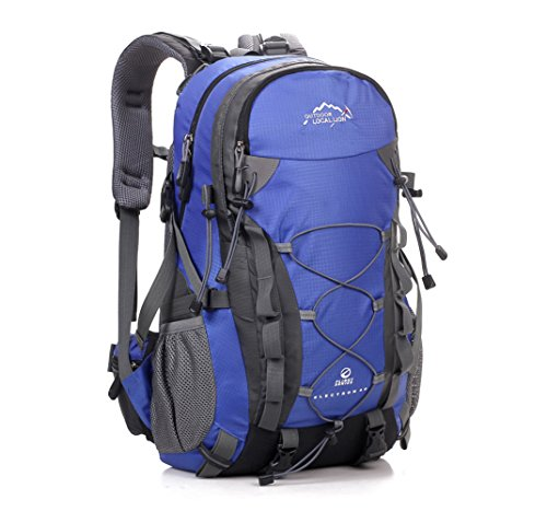 Cuckoo 36L Lightweight High-capacity Outdoor Climbing Camping Travel Waterproof Backpack For Men Large Hiking Daypacks Mountaineering Bag,Blue