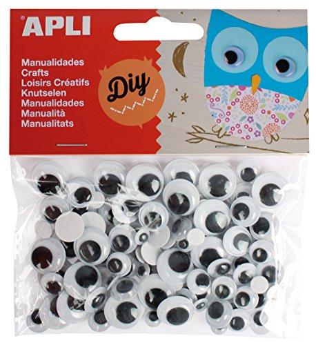 "Apli""Googly/Moving Eyes Various Sizes"" Adhesive (Pack of 100)"