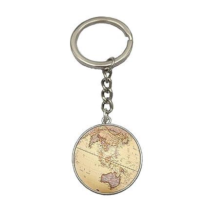 Outflower. Llavero Mapa del Mundo Colgante de Llavero ...