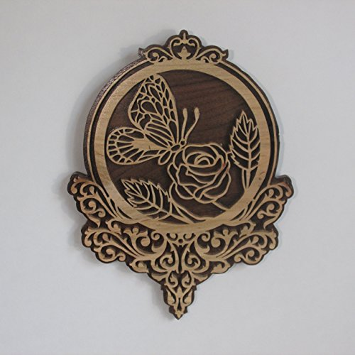 Scroll Sawn Butterfly and flower fretwork Wall (Fretwork Wall Plaque)