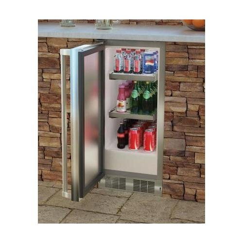AGA Marvel MO15RAS2LS Outdoor Refrigerator with Lock, Left Hinge Stainless Steel Door, 15-Inch by AGA Marvel (Image #1)