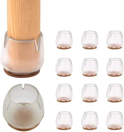 32PCS Gommini per Sedie Rotondi Adatti per Gambe Tonde 12-16mm per Gambe di Sedie Tappi per Sedie In Silicone Antiscivolo per Proteggere il Pavimento