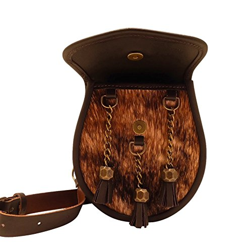 à 1834 Sporrans Main Pochette Naturel Cuir Collection à Sac Sac Main Nixey nbsp;Classic Bourse Marron FAw54vvx
