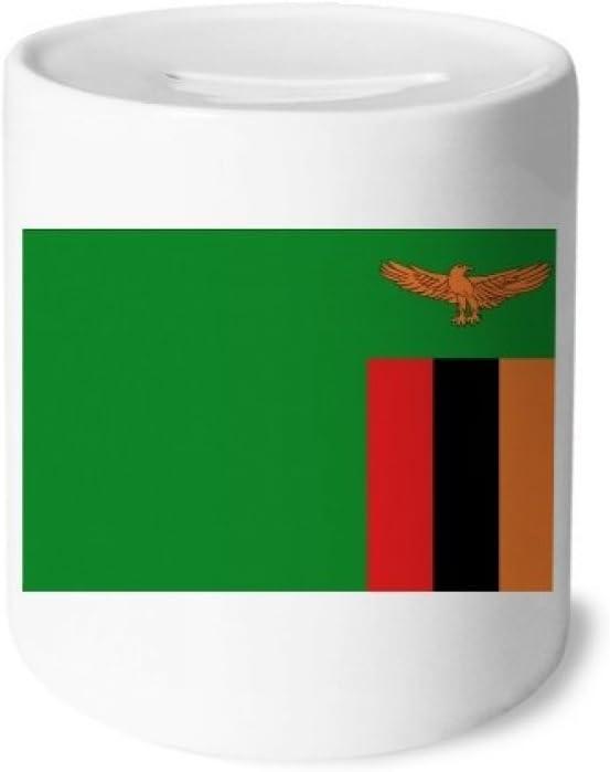 DIYthinker Zambia África la Bandera Nacional de País Caja de Dinero de Las Cajas de ahorros de cerámica Adultos Moneda de la Caja para niños: Amazon.es: Juguetes y juegos