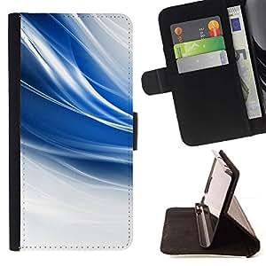 Momo Phone Case / Flip Funda de Cuero Case Cover - El azul remolina;;;;;;;; - Samsung Galaxy S6 EDGE