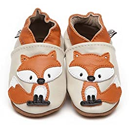 Soft Leather Baby Shoes Fox 6-12 Months